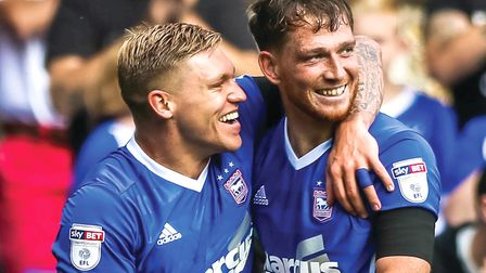 Joe Garner and Martyn Waghorn are both vying to start at Middlesbrough. Picture: STEVE WALLER