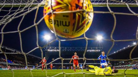 Bersant Celina nets Ipswich Town's fourth goal in last weekend's 4-2 home win against Nottingham For