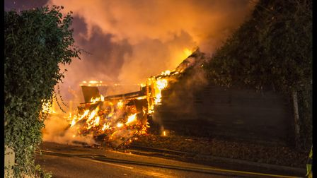 At the height of the fire, 29 crews were on scene. Picture: TERRY TOOZE