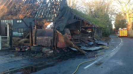 Fire crews worked through the night to extinguish the fire. Picture: YVONNE WATTS