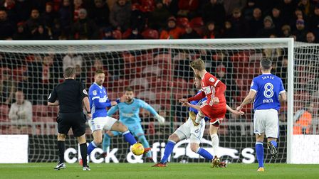 Patrick Bamford scores early in the second half against Ipswich Picture Pagepix