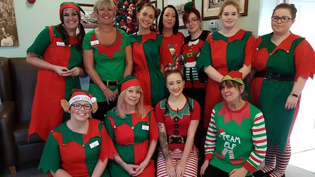 Staff at Hillcroft House in Stowmarket dressed as elves to raise awareness of the Alzheimer's Societ
