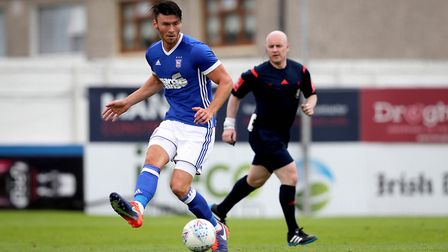 Kieffer Moore in action for Town in pre-season. Picture: INPHO/Ryan Byrne