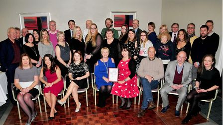 Members of the Suffolk Chamber of Commerce team withits new BCC accreditation certificate. Picture