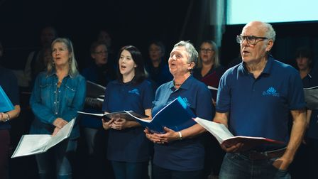 THe choir meets every two weeks at The Seagull Theatre in Lowestoft. Picture: LIVE CONSULTANCY