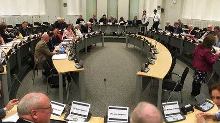 Babergh councillors met at Endeavour House in Ipswich. Picture: PAUL GEATER