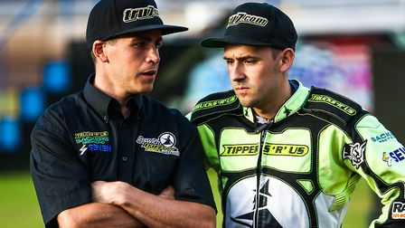 Witches team manager Ritchie Hawkins and skipper Danny King. Picture: STEVE WALLER