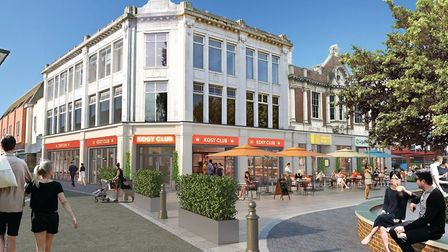 Artist's impression of how St Nicholas Square in Colchester could look. Picture: JAMIESON MILLS
