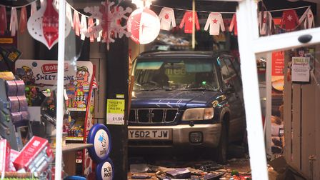 A vehicle has been reversed into a Co-op store in Lavenham. Picture: ARCHANT