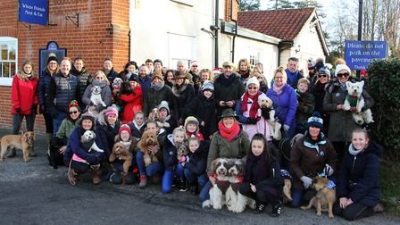 Tracy Root aka The Suffolk Fairy Dogmother gathered friends, clients and fellow dog owners around he