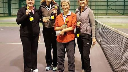 Ladies finalists: Left to right Tracy Ward, Zelma Green, Jill Crown and Linda Whipp