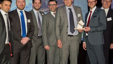 """The team that keep the InterCity trains running get their """"Golden Spanner"""" award. Picture: TONY MILE"""