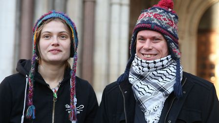 Alleged computer hacker Lauri Love, his girlfriend Sylvia Mann, arriving at the High Court in centra
