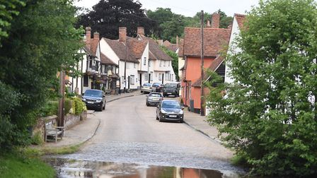 Village of Kersey, where seven new homes near The Bell pub are being proposed. Picture: GREGG BROWN