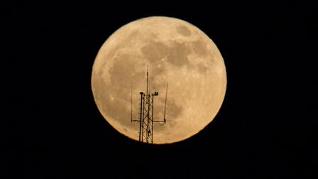 Did you see the supermoon? Picture: AP PHOTO/ARIEL SCHALIT