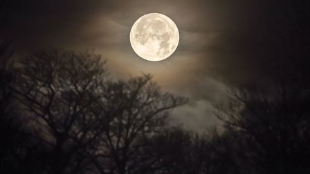 Send us your pictures of the supermoon. Picture: DANNY LAWSON/PA WIRE