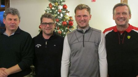 STOWMARKET SUCCESS: From left: Andrew Forgan, Andy Cunningham, Sam Forgan and Gus Cutting who won t