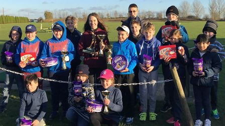 STONHAM PLAYERS: The youngsters who took part in the final event of the junior season at Stonham Bar