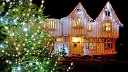 The Guildhall decorated for Lavenham Christmas Fair. Picture: BEN BROWN