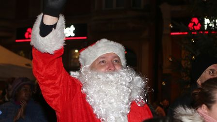 Santa at the Clacton Christmas lights switch-on. Picture: SEANA HUGHES