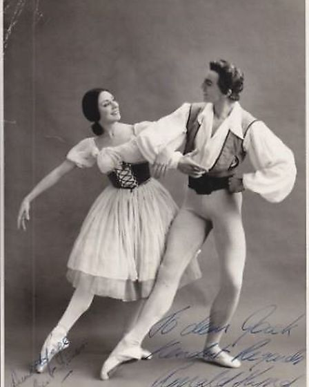 Annette pictured here with her husband, dancer and choreographer, Ronald Hynd