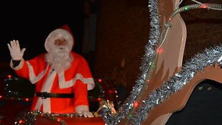 Santa's sleigh tour, organised by Stowmarket Lions, has already raised £3,700. Picture: ROB HALE