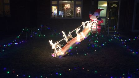 Christmas lights in Ipswich. Picture: NICOLLE TAYLOR