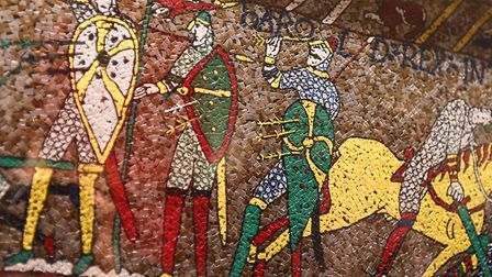 Close up of the Medieval Mosaic in Melton. Picture: GREGG BROWN