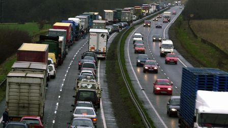 Traffic on the A14 (stock image). Picture: ARCHANT LIBRARY