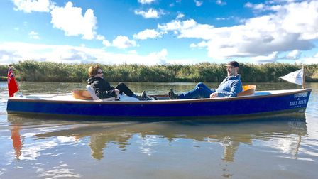 Just 20ft long and powered by a two-man crew, The Dad's Boats paddle boat will feature at this year'