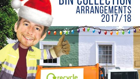 Households in west Suffolk have been notified of bin collection days after Christmas. IMAGE: WEST SU