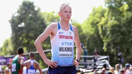 Great Britain's Callum Wilkinson after finishing 41st in the Men's 20km Race Walk during day ten of