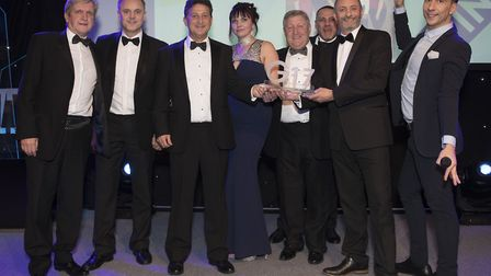 The team from SEH BAC at the G Awards in London. Picture: Peter Macdiarmid