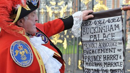Shouting in public is not the done thing... unless tou happen to be Town Crier Tony Appleton announc