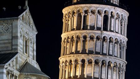 The leaning tower of Pisa - a bit on the huh. Picture: AP PHOTO/FABIO MUZZI