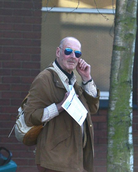 Neighbour fron hell, Michael Cornwell leaving Ipswich Magistrates' Court after a previous hearing. P