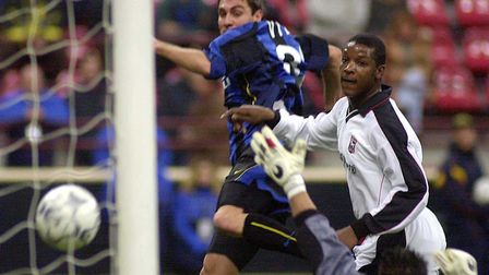 Inter Milan forward Christian Vieri, left, scored a hat-trick in the second leg. Picture AP