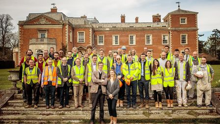 The Euston Hall renovations team. Picture: CONTRIBUTED