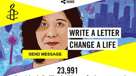 Amnesty International in Bury St Edmunds is launching its Write for Rights campaign.