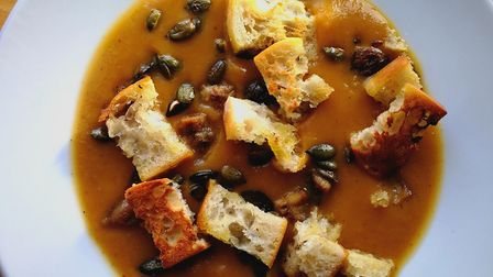 Butternut squash and chestnut soup. Picture: Mersea Island Cookery School