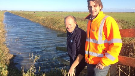 Mark Smart, the RSPB's senior sites manager for Berney Marshes and Breydon Water, left, and the Wate