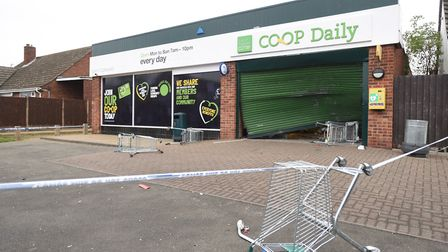 A ram raid has taken place on the Co-op at The Drift in Great Cornard. Picture: GREGG BROWN