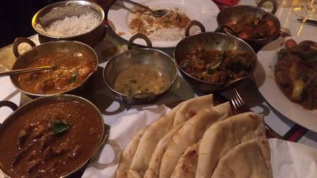 Main course dishes at the Brittannia Gurkha Restaurant and Bar. Picture: Mark Edwards
