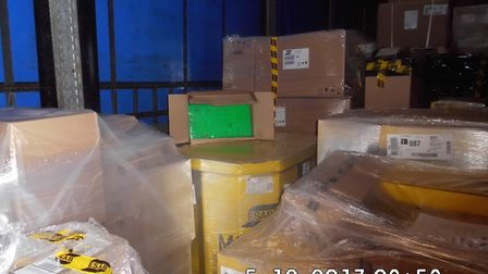 The packages were discovered after Border Force officers conducted an x-ray of the trailer. Picture: