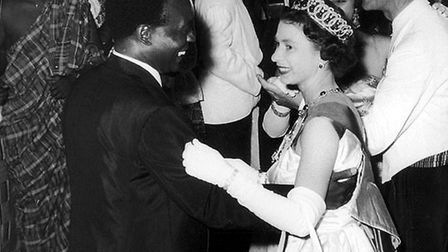 The Queen with Ghana president Kwame Nkrumah during her visit in 1961. Picture: UIG/GETTY IMAGES