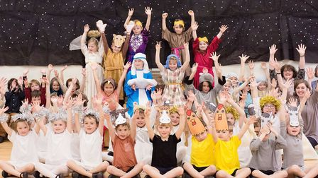 Hartest Primary School pupils performed 'The Wriggly Nativity' this week. Picture: FRANCES FOSTER PH