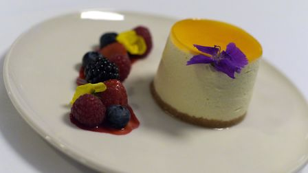 Passionfruit cheesecake at Ogilvie's, Thorpeness. Picture: Sarah Lucy Brown