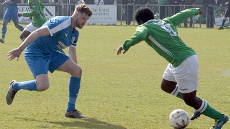 Tom Bullard, left, back in the Leiston squad this weekend.