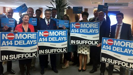 Campaigners are trying to get improvements on the A14 in Suffolk. Picture: SUFFOLK CHAMBER
