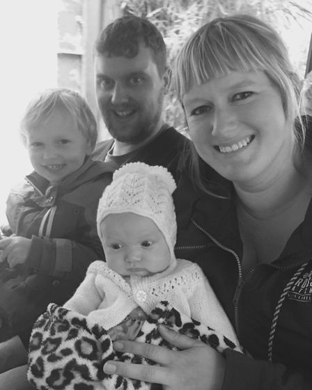 Holly Leppard with husband Shaun and children Rupert and Amadea. Picture: HOLLY LEPPARD
